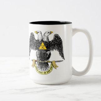 32nd Degree Scottish Rite Black Eagle Coffee Mugs