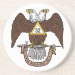 32nd Degree Scottish Rite Brown Eagle Coasters