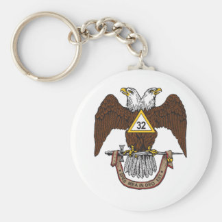 32nd Degree Scottish Rite Brown Eagle Keychain