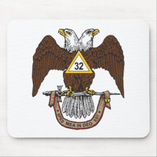 32nd Degree Scottish Rite Brown Eagle Mouse Pad