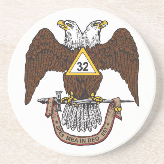 32nd Degree Scottish Rite Brown Eagle Sandstone Coaster