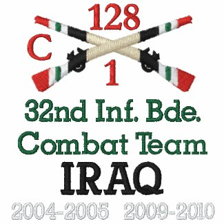 32nd Inf. Bde. Combat Team Crossed Rifles Shirt