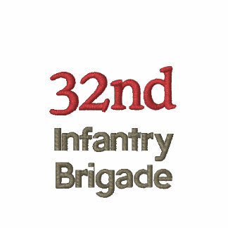 32nd Infantry Brigade Military Embroidered Polo Shirt