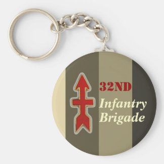 32nd Infantry Brigade Military Keychain