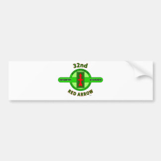 """32ND INFANTRY DIVISION """"RED ARROW"""" BUMPER STICKER"""