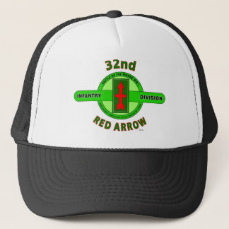 """32ND INFANTRY DIVISION """"RED ARROW"""" TRUCKER HAT"""