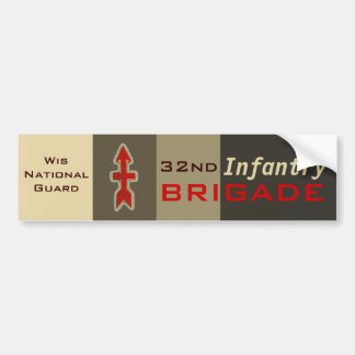 32nd Infantry:Red Arrow Brigade Bumper Stickers