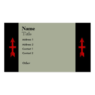 32nd Infantry Red Arrow Brigade Custom Double-Sided Standard Business Cards (Pack Of 100)