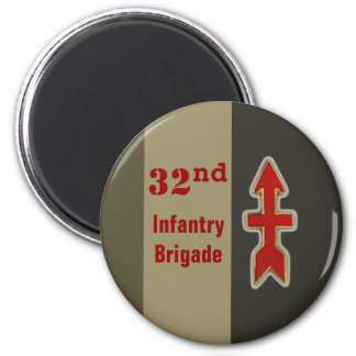 32nd Infantry:Red Arrow Brigade Magnets