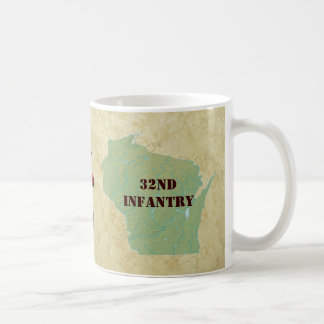 32nd Infantry Wisconsin Red Arrow Brigade Military Coffee Mug