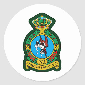 32nd (Tactical) Fighter Squadron Wolfhounds Classic Round Sticker