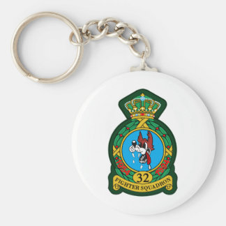32nd (Tactical) Fighter Squadron Wolfhounds Keychain