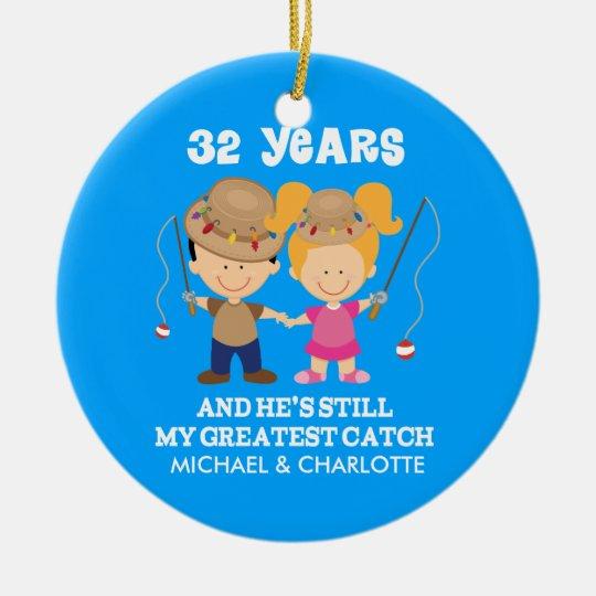 32 Wedding Anniversary Gifts: 32nd Wedding Anniversary Personalized Gift Ceramic