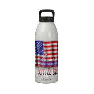 • 32oz • American Flag Bottle Water Bottle
