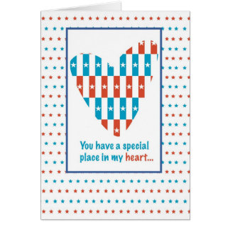 3309 Place in Heart, Thanks, Patriotic Card