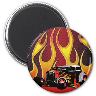 330 Hot Rod Color Variante 2 2 Inch Round Magnet