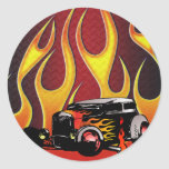 330 Hot Rod Color Variante 2 Classic Round Sticker