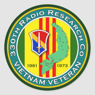 330th RRC - ASA Vietnam Classic Round Sticker