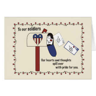 3310 Mailbox Support Troops Card