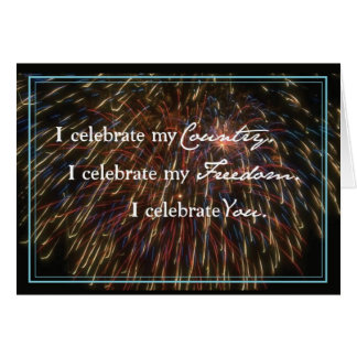 3312 Celebrate with Fireworks Card