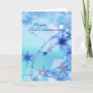 3315 Happy 1st Anniversary Card