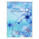 3315 Happy 1st Anniversary Greeting Cards