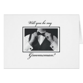 3329 Will You Be My Groomsman? Greeting Card