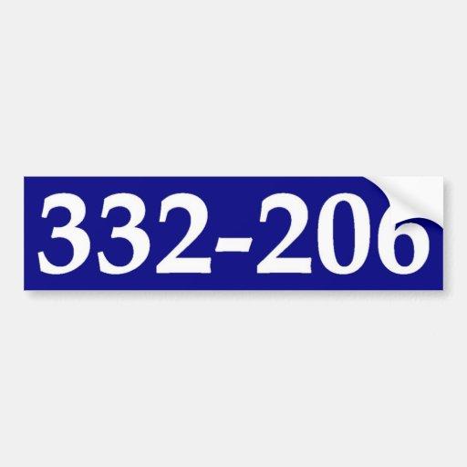 332-206. BUMPER STICKER