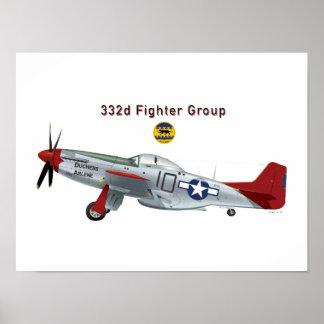 332d FG P-51D Mustang Poster