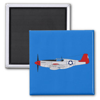 332nd Fighter Group 2 Inch Square Magnet