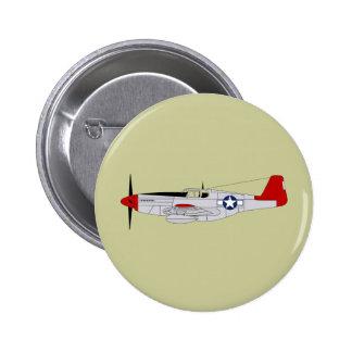 332o Grupo del combatiente - Redtails - aviadores  Pin Redondo De 2 Pulgadas