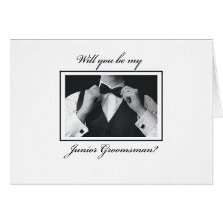 3330 Will You Be Junior Groomsman? Greeting Card