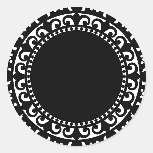 3332 doily shape 1 black white circle shapes doil classic round