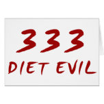 333 Diet Evil Card