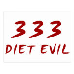 333 Diet Evil Post Cards