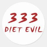 333 Diet Evil Round Sticker