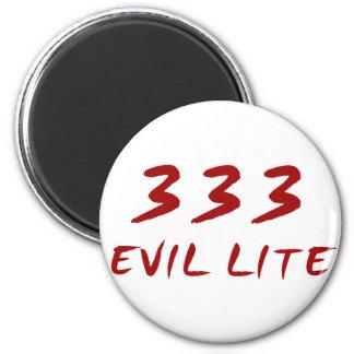 333 Evil Lite 2 Inch Round Magnet