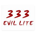 333 Evil Lite Postcard
