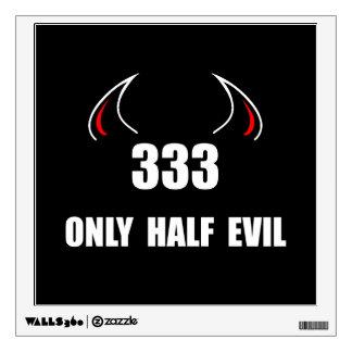333 Half Evil Wall Stickers