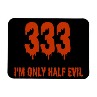 333 Only Half Evil Rectangle Magnets