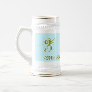 333 - THE ANGEL NUMBER , 18oz Stein, White/Gold Beer Stein