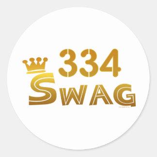 334 Alabama Swag Classic Round Sticker