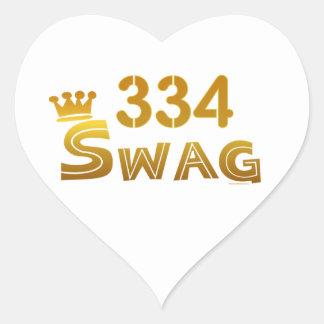 334 Alabama Swag Heart Sticker