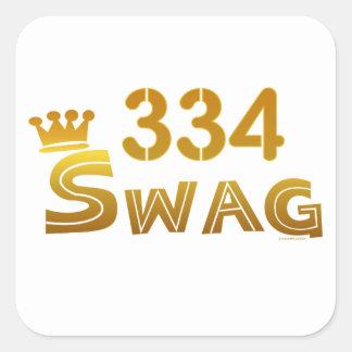 334 Alabama Swag Square Sticker