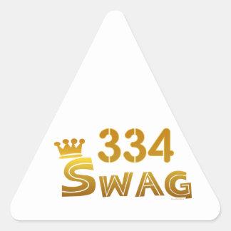 334 Alabama Swag Triangle Sticker
