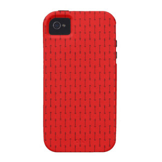 335 BRIGHT RED  ARROWS DIRECTION PATTERN BACKGROUN iPhone 4 CASES