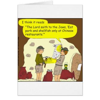 335 pork and shellfish Cartoon Greeting Cards