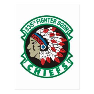 335o Jefes del escuadrón de caza Tarjetas Postales
