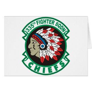335th Fighter Squadron Chiefs Card