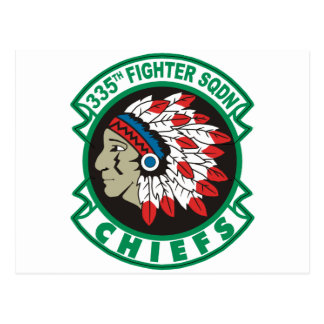 335th Fighter Squadron Chiefs Postcard